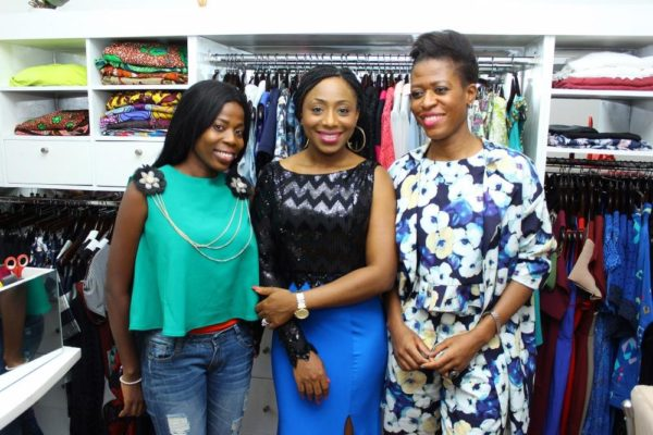 Omowunmi Owonifari (Mo'Fari couture), Dakore Akande and Ezinne Chinkata