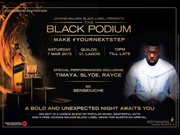 Johnnie Walker the Black Podium - BellaNaija - March 2015