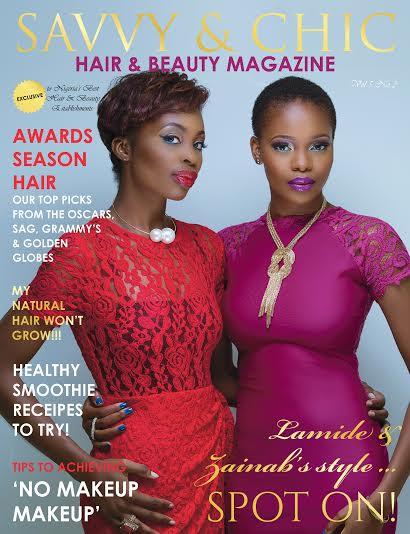 Lamide Akintobi & Zainab Balogun for Savvy & Chic Hair & Beauty Hub Magazine - BellaNaija - March 2015