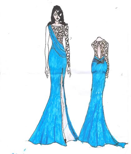 Submitted Sketch by Mo'fari Couture