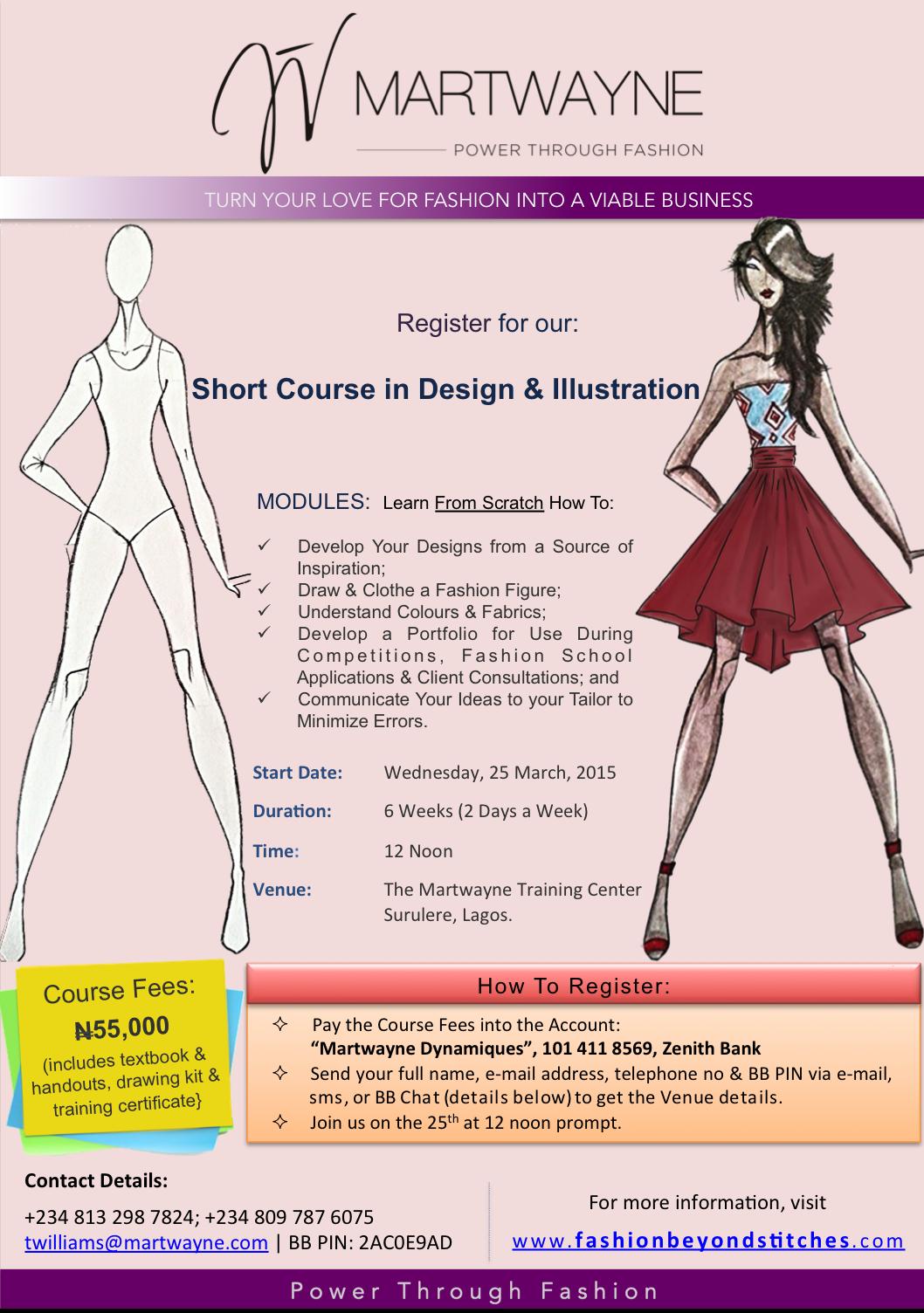 Learn Design Illustration At Martwayne Prepare Yourself To Succeed In The World Of Fashion Bellanaija