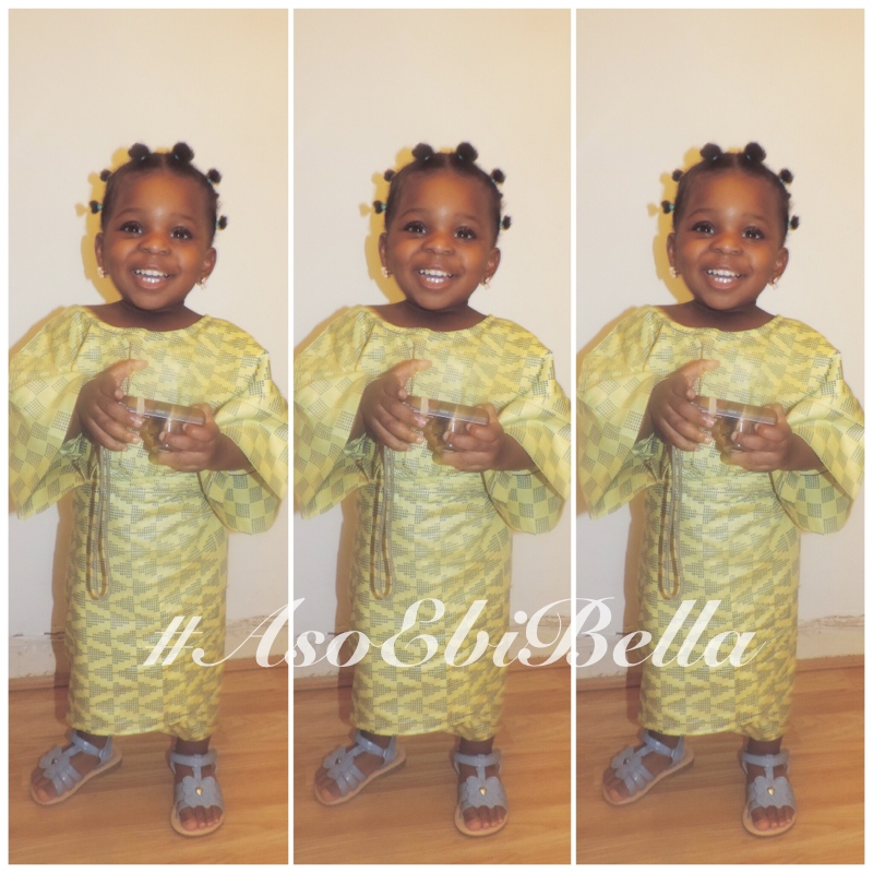 Nneka, outfit by her grandma