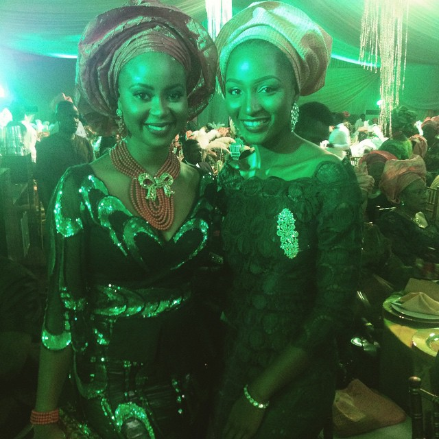 Omowunmi Akinnifesi and Powede Lawrence at reni Smith's Wedding - March 2015