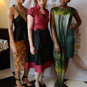 Leslie Okoye (Owner, CookieSkin), Charlotte Obidairo (CEO, PANDORA West Africa) & Teni Sagoe (Fashion Designer, CLAN)