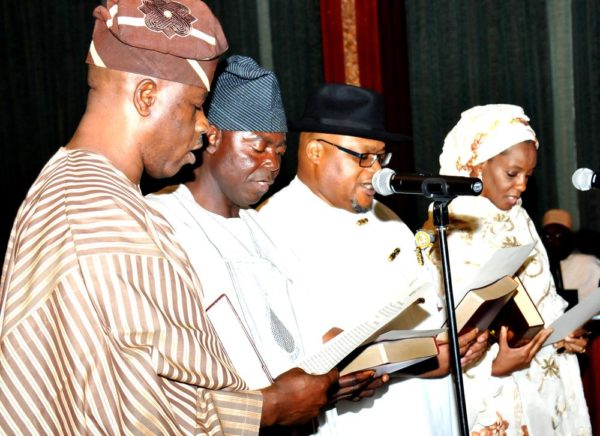 PIC .2. NEW MINISTERS SWORN IN, IN ABUJA