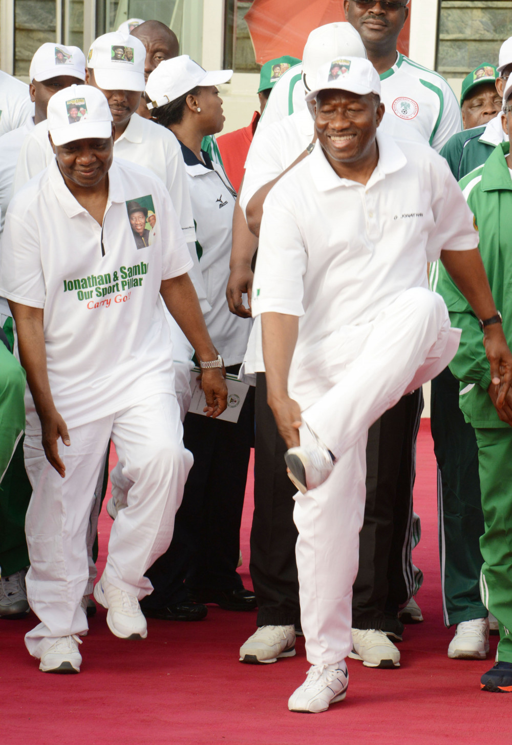 "Former President Jonathan on the Campaign Trail in March 2016 - at the ""Solidarity Rally in Support of President Jonathan and the Vice President"" in Abuja"