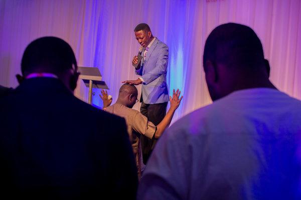 Sam Adeyemi prays for Chude Jideonwo