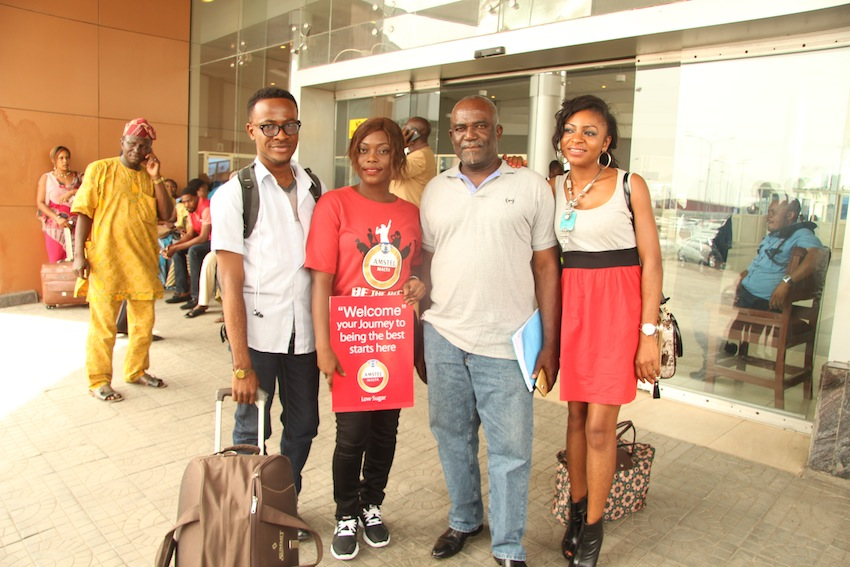 Pictures of the students arriving Lagos