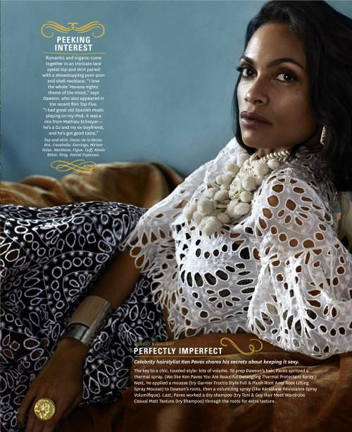 Rosario Dawson for the Oprah Magazine - Bellanaija - March 2015001
