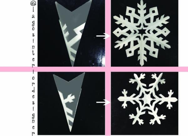 Snowflake cutout
