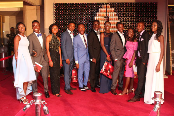 Students at the AMVCA redcarpet