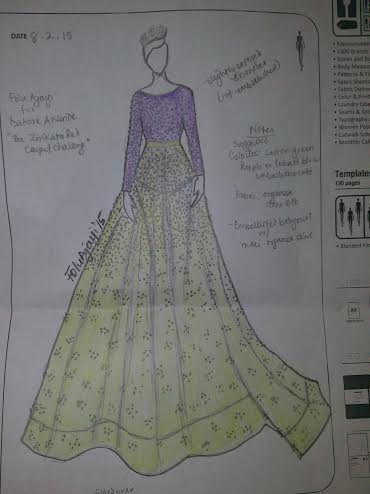 Sketched design by Fulu Ajayi: House of Dabira