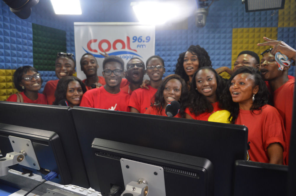 The Students at Cool FM with Assistant Brand Manager, Amstel Malta, Phoebe Larry-Izamoje