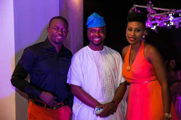 Uche and Onyinye Nnaji with Adebola Williams