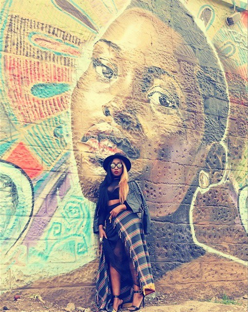 Victoria Kimani on Lupita Graffiti Wall in Nairobi - March 2015 4