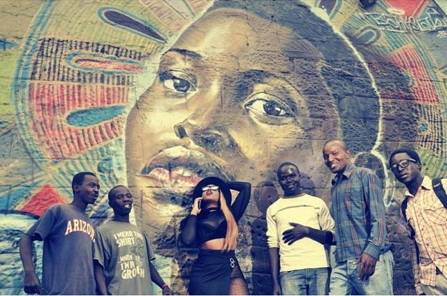 Victoria Kimani on Lupita Graffiti Wall in Nairobi - March 2015 6