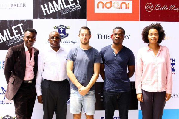 Wale Ojo- Compère , Mr Uche Nwokedi SAN - PlayHouse Initative, Matthew Romain, Ladi Emeruwa & Amanda Wilkin- Cast of Shakespeares Globe- Hamlet
