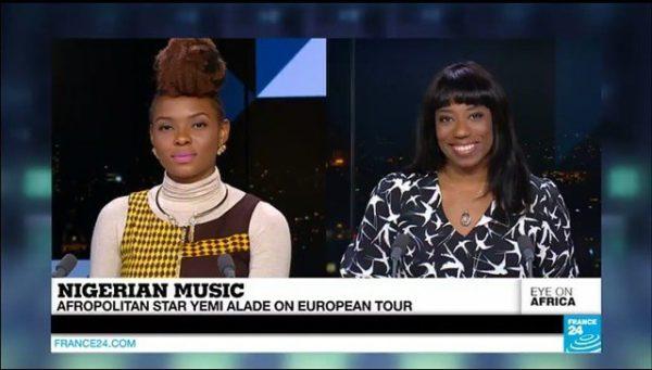 Yemi Alade on France 24's Eye On Africa