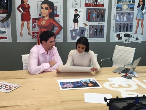 Kim Kardashian at Glu Mobile
