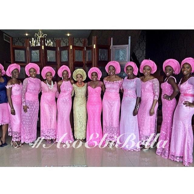 pink lace aso ebi by @temiladyofkwamuhle