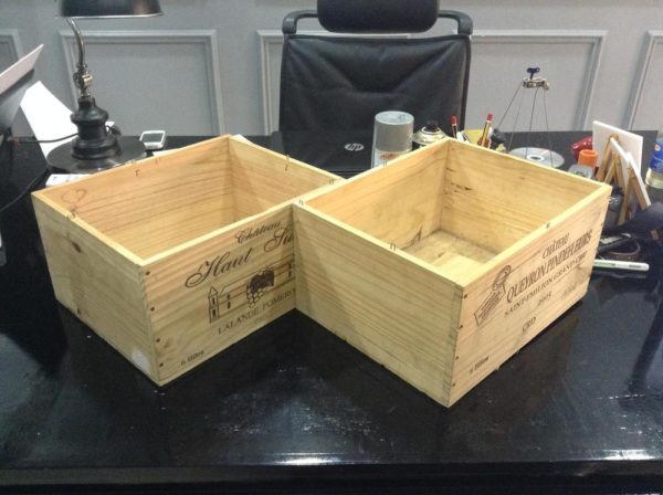 Upcycle your old wine crates check out tinuke odunfa s d for Empty wine crates