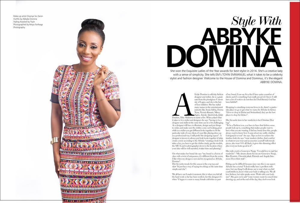 Stylist Designer Abbyke Domina Covers The 79th Issue Of Exquisite Magazine Bellanaija