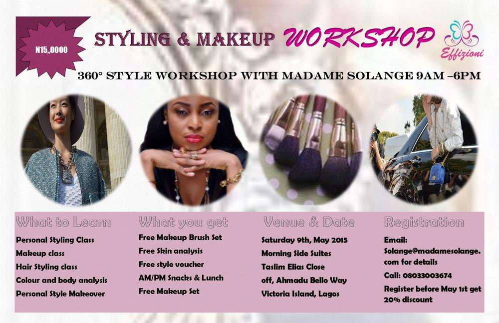 360 Degrees Styling and Make Up Workshop - BellaNaija - April 2015001