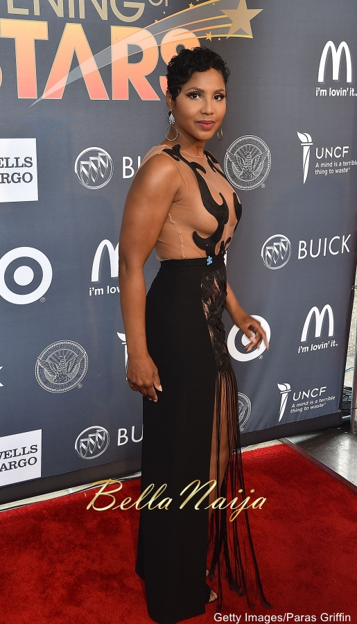 Wow See What Toni Braxton Wore Next To Her Teenage Sons At Uncf An Evening Of Stars Hot