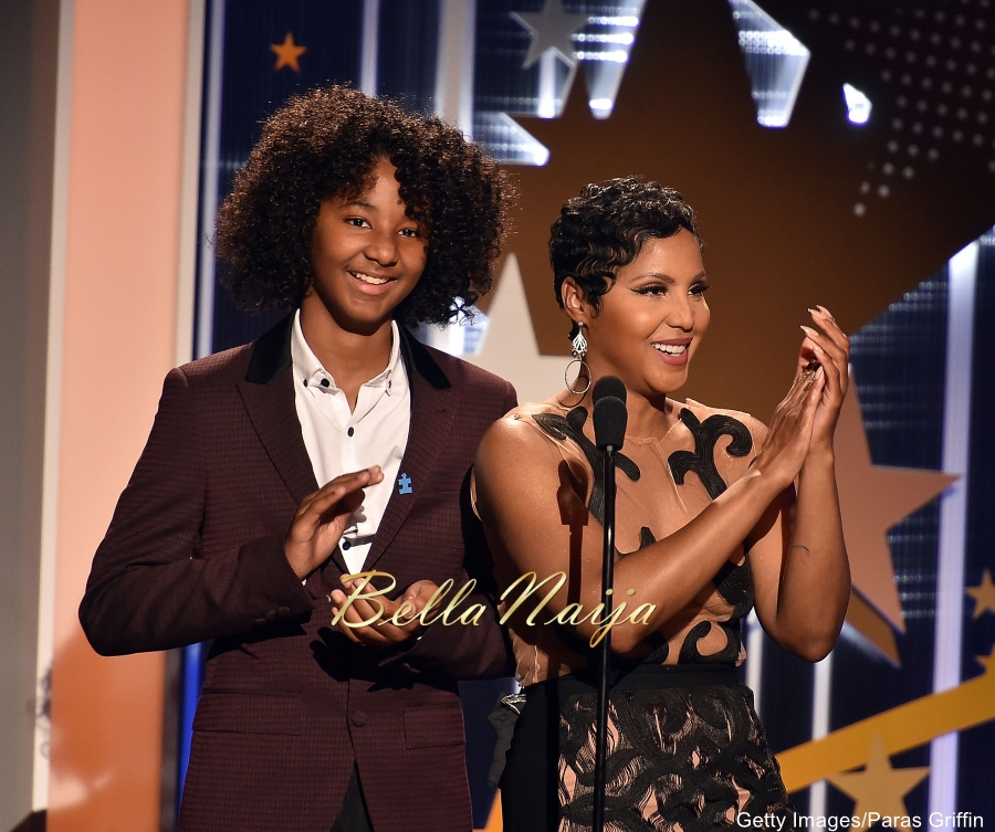 Wow! See What Toni Braxton Wore Next To Her Teenage Sons