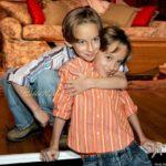 Sawyer Sweeten with his Twin Sullivan Sweeten in 2005