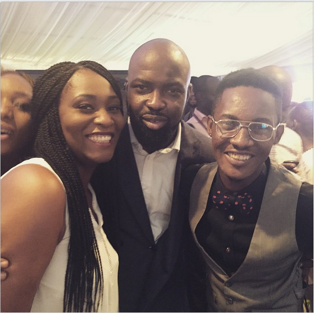 Audu Maikori with Ruby Gyang & Jesse Jagz at NEC