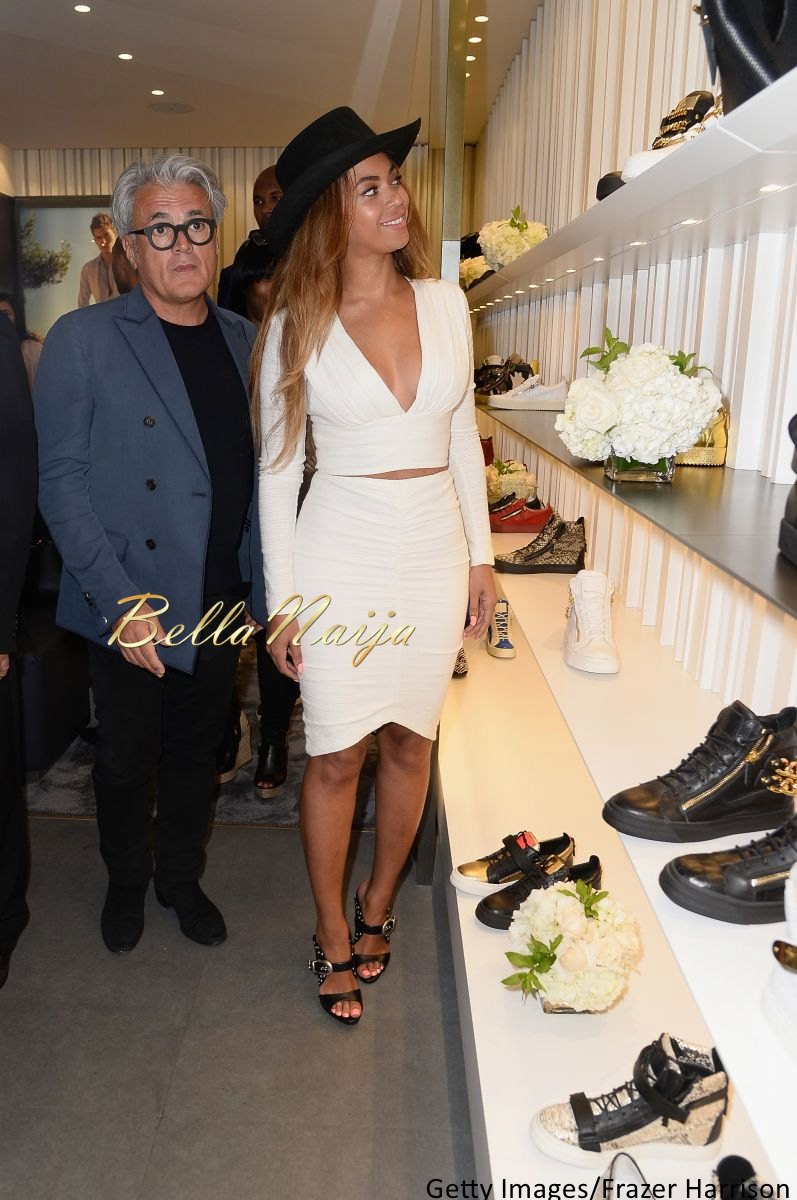 Beyonce at Giuseppe Zanotti Beverly Hills Store Opening - Bellanaija - April2015004