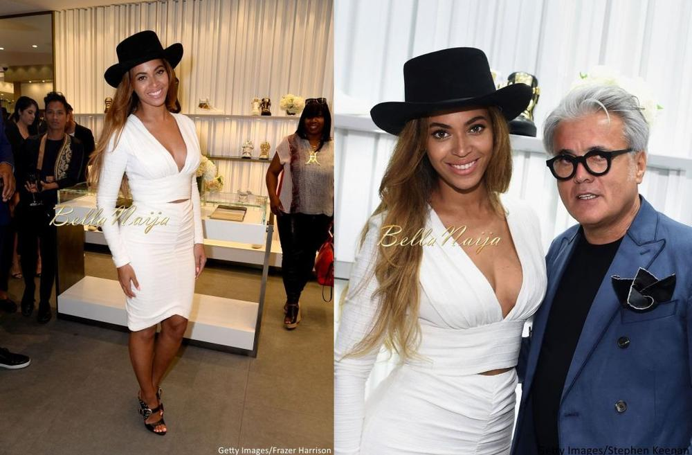 Beyonce at Giuseppe Zanotti Beverly Hills Store Opening Bellanaija April2015009