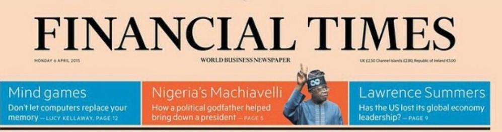 Bola Tinubu Financial Times