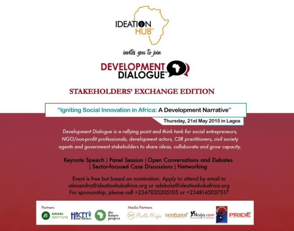 Development Dialogue Event E-Flyer 21st May 2015