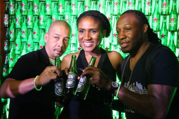Djs Black Chiney and Senior Brand Manager Heineken Nigeria, Ngozi Nkwozi
