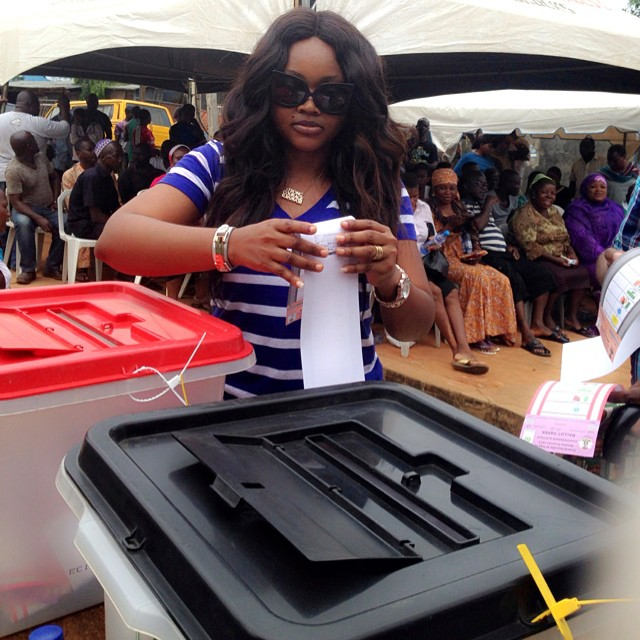 Mercy Aigbe-Gentry Voting