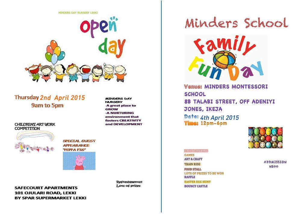 Family Fun Go Well Together Minders Day School Invites You To Its