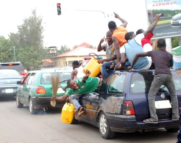 PIC. 6. APC SUPPORTERS CELEBRATE IN ABUJA