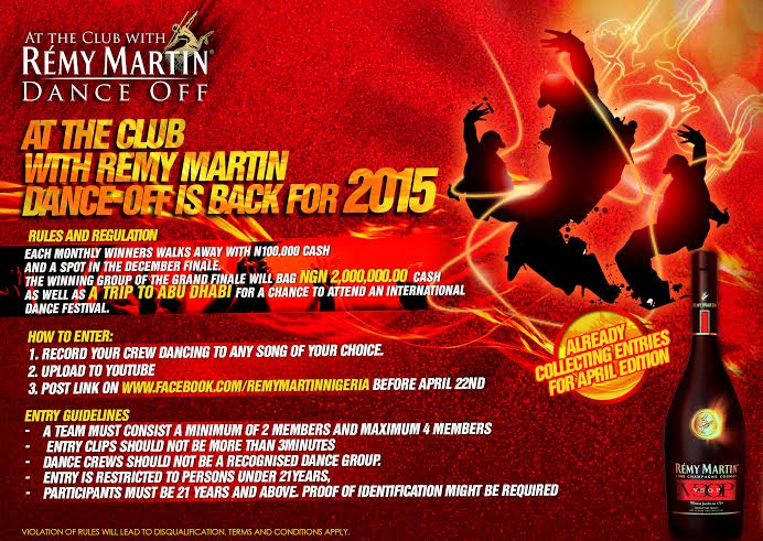 Remy Martin Dance Off Competition - BellaNaija - April 2015