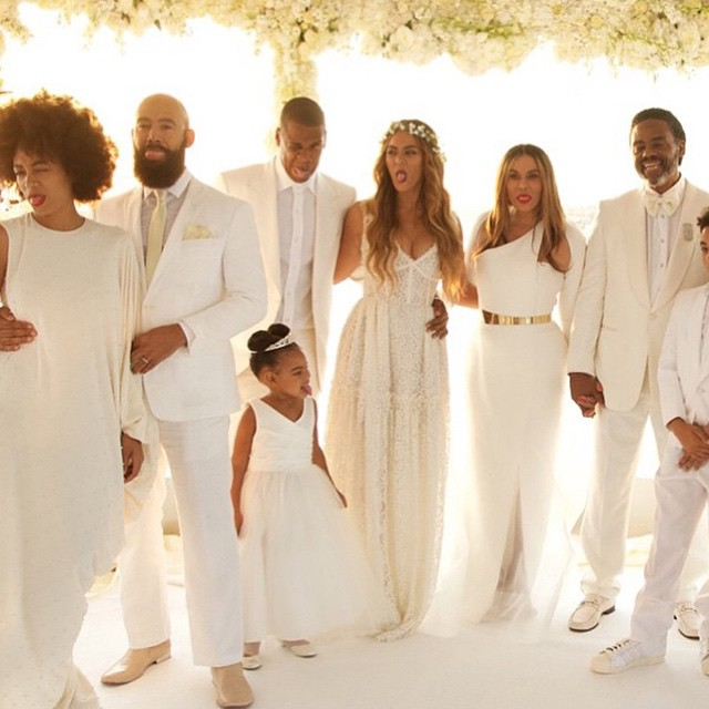 Michelle Williams tina knowles wedding