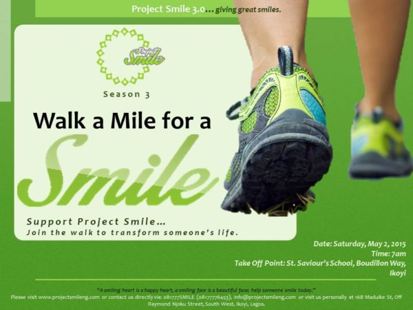 Walk a Mile for a Smile - BellaNaija - April 2015001