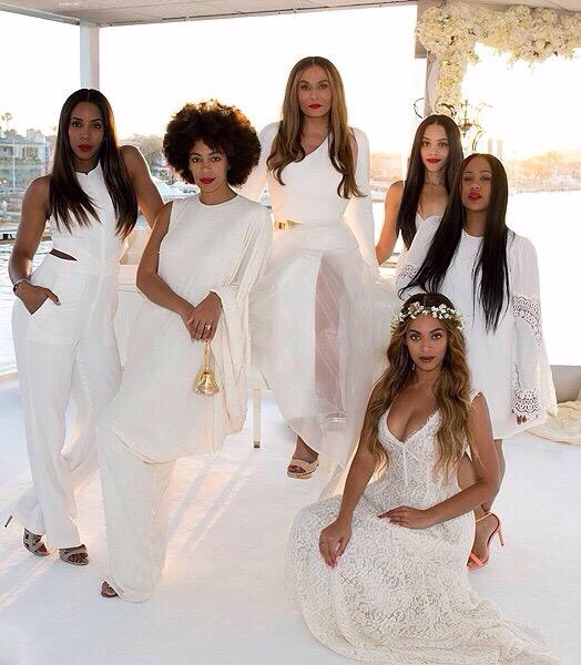 Slay Epic Photos From Tina Knowles All White Wedding Beyoncé