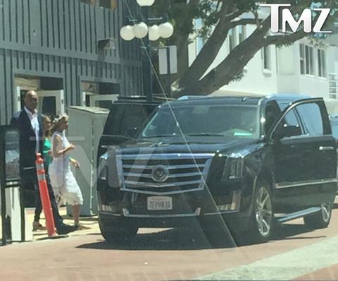 Beyonce Entering Her Car