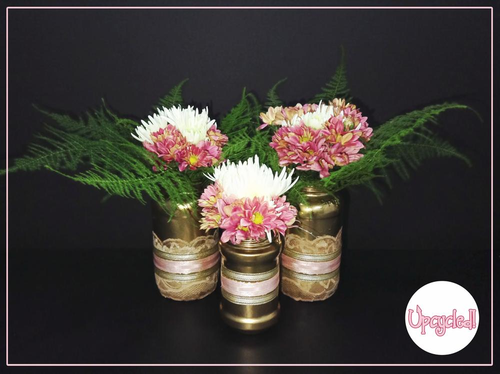 Turn your old jam jars into beautiful flower vases tinuke odunfa upcycled vase 9 reviewsmspy