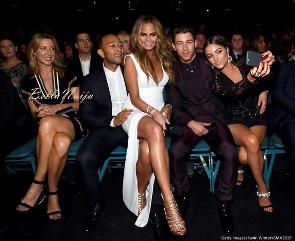 John Legend, Chrissy Teigen, Nick Jonas and Olivia Culpo