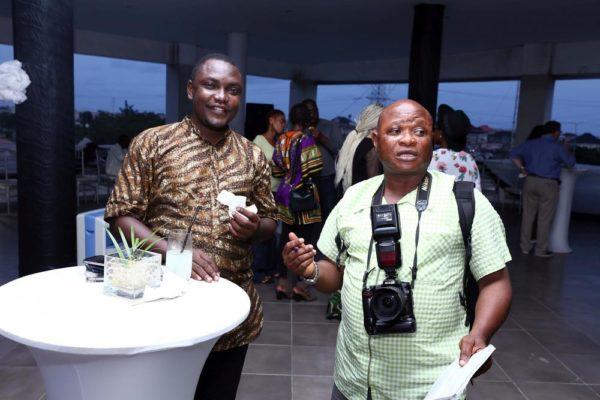 Chuks Nwanne & femi Kuti from The Guardian Nigeria representing the Exhibition Partner