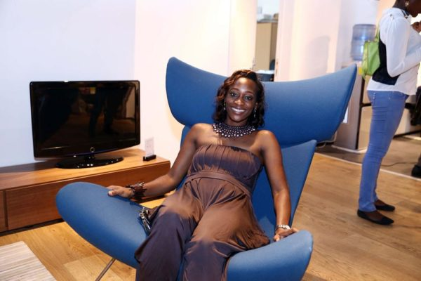Hafsat Abiola-Costello in BoConcept Signature Chair