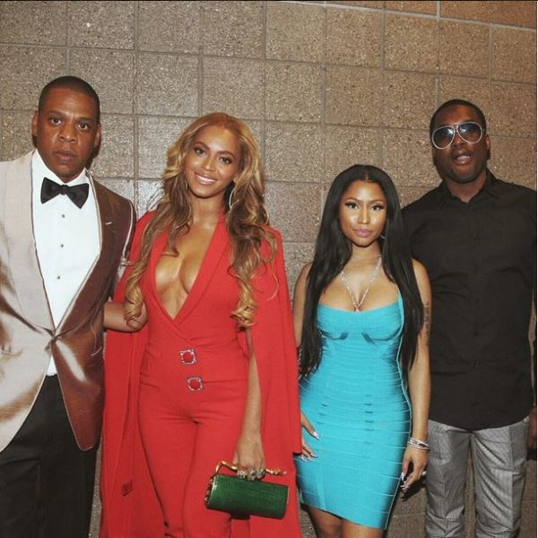Beyonce, Jay Z, Nicki Minaj, Meek Mill at Mayweather Pacquiao Fight - May 2015 1
