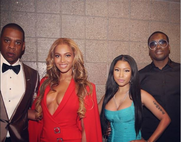 Beyonce, Jay Z, Nicki Minaj, Meek Mill at Mayweather Pacquiao Fight - May 2015 2
